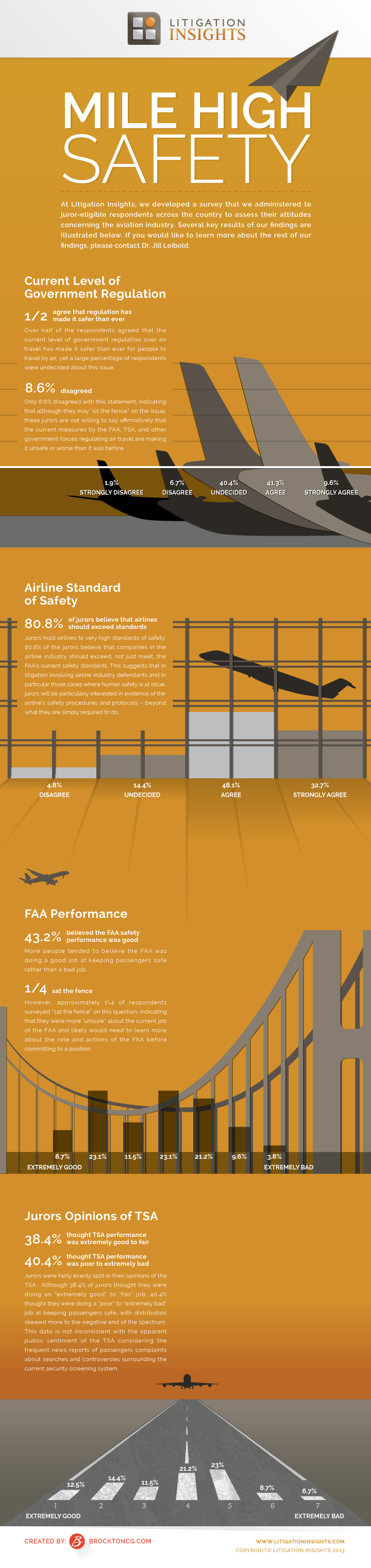 Infographic Image Representing Jurors Attitudes Toward The Aviation Industry - Litigation Insights