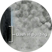 Gash in Building