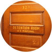 U.S. Marshal Detention Room Door