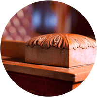 Wooden Detail in a Courtroom
